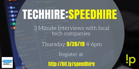 TechHire - Speed Hire - September tickets