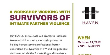 Working with Survivors of Intimate Partner Violence tickets