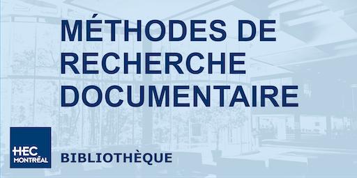 Méthodes de recherche documentaire