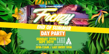 FRENZY - End Of Summer Day Party tickets