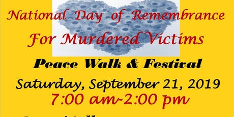 National Day Of Remembrance for Murdered Victims Peace Walk & Resource Fair tickets