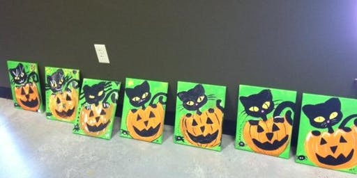 Creepy Cat Painting Event