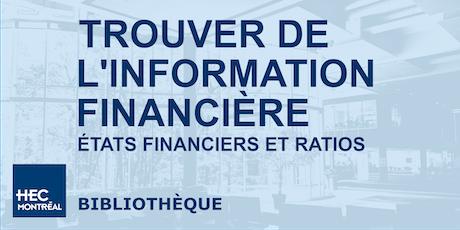Trouver de l'information financière: États financiers et ratios billets