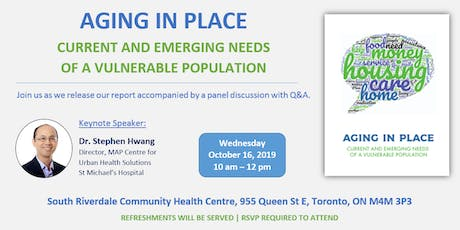 Aging in Place: Current and Emerging Needs of a vulnerable population tickets