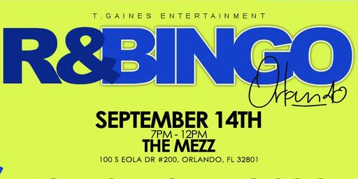 R&Bingo Orlando (YOU MAY PAY AT THE DOOR)