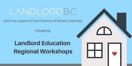 Landlord Education - Regional Workshops, Terrace tickets