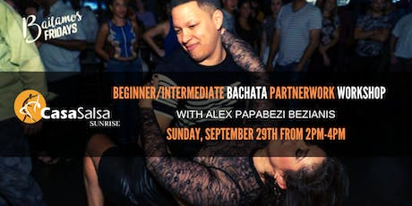 Beginner/Intermediate Bachata Partnerwork Workshop with Alex Bezianis! tickets
