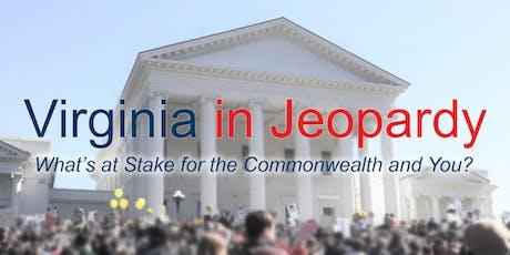 Virginia in Jeopardy tickets