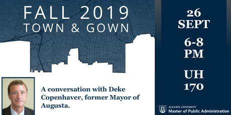 Fall 2019 Town & Gown: A Conversation with Deke Copenhaver tickets