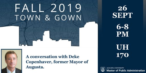 Fall 2019 Town & Gown: A Conversation with Deke Copenhaver
