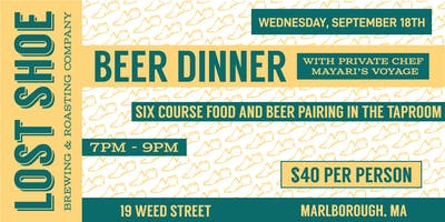 Beer and Food Pairing with Lost Shoe Brewing and Mayari's Voyage