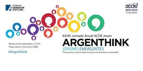 XXVIII Jornada ACDE Joven | Argenthink: Jóvenes emergentes entradas