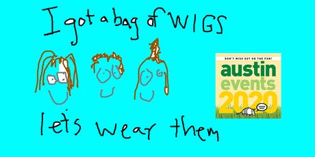 I got a bag of wigs. Let's wear them. tickets