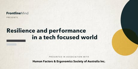 Resilience and performance in a tech focused world tickets