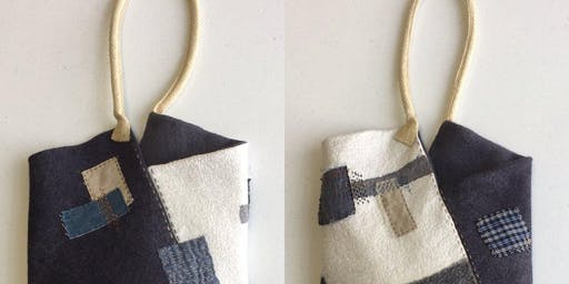 Boro Hand-Stitched Felt Bag
