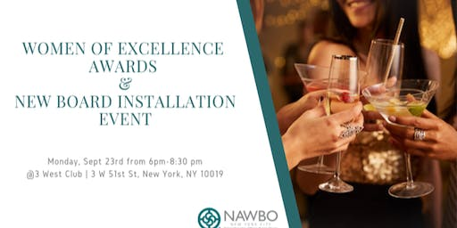 Women of Excellence Awards & New Board Installation Event