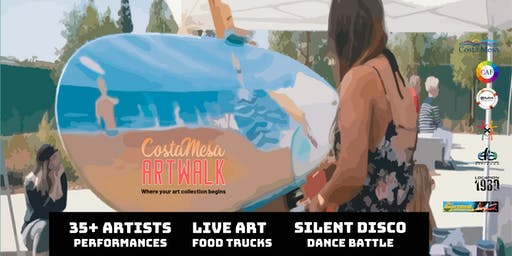 Costa Mesa ArtWalk + Dance Battle (3rd Saturdays)