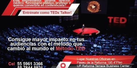 TEDx Talk Training Mexico CDMX entradas