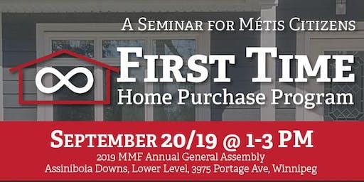 MMF First Time Home Purchase Program Seminar - Sept 20th - MMF AGA