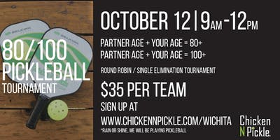 80/100  Pickleball Tournament