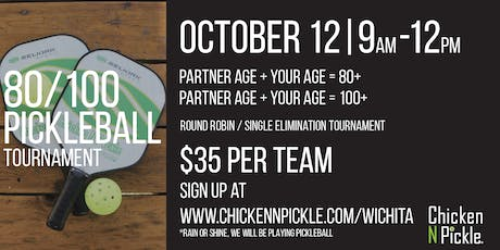 80/100  Pickleball Tournament tickets