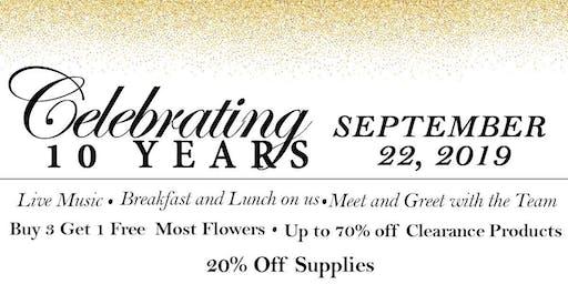 Celebrating 10 Years - September 22