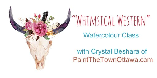 Whimsical Western Watercolour with Crystal Beshara