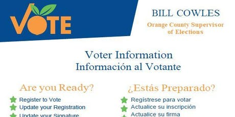 Dr.Phillips Voter Registration Day with Orange County Office of Elections tickets