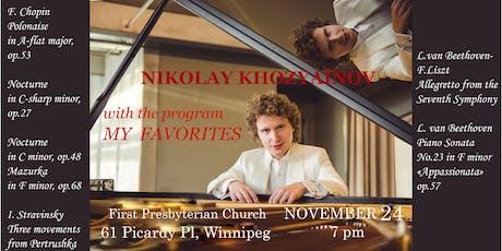 "NIKOLAY KHOZYAINOV with the program ""MY FAVORITES"" tickets"