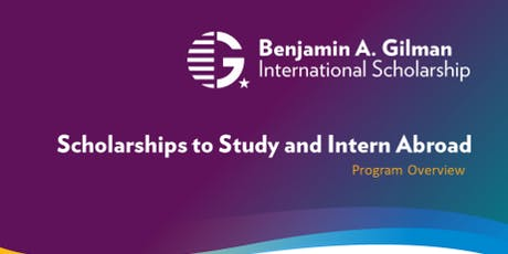 National Scholarships & Study Abroad Information Session tickets