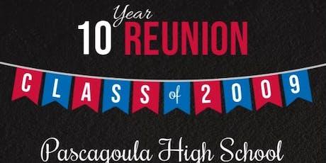 Pascagoula High School Class of 2009 Ten Year Reunion tickets