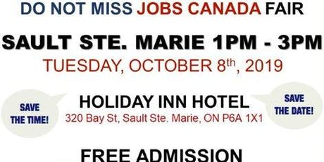 Sault Ste. Marie Job Fair – October 8th, 2019 tickets