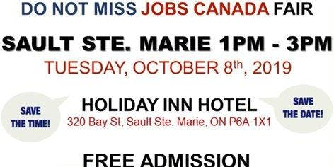 Sault Ste. Marie Job Fair – October 8th, 2019