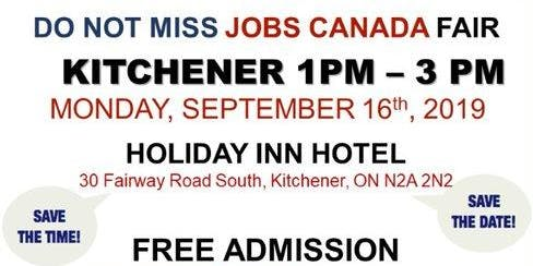 Kitchener Job Fair - September 16th, 2019