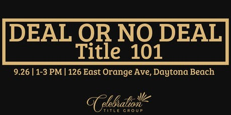 Deal or no Deal - Title 101 tickets