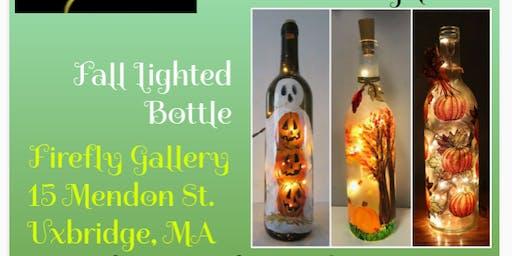 Paint Fall inspired lighted bottles