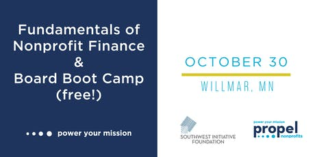 Nonprofit Finance and Board Governance Trainings - October 30, 2019 tickets