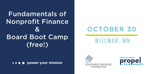 Nonprofit Finance and Board Governance Trainings - October 30, 2019