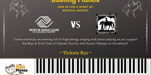 Dueling Pianos -Boys & Girls Club vs. Human Therapy on Horseback