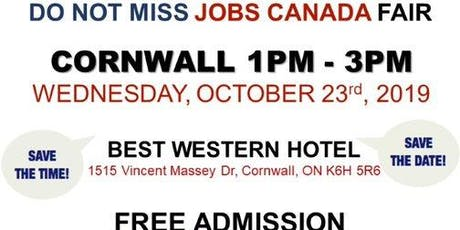 Cornwall Job Fair - October 8th, 2019 tickets