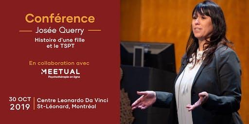 Conférence Josée Querry sur le TSPT   Montréal