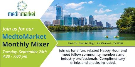 MedtoMarket Monthly Mixer - September tickets