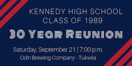 JFK Class of 1989 - 30 Year Reunion tickets