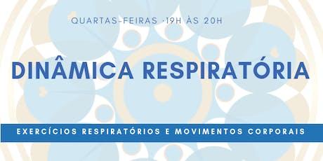 Aulas de Dinâmica Respiratória - agendamento ingressos