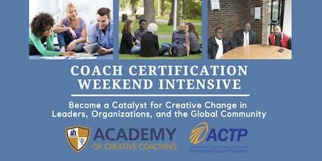 Coach Certification Weekend Intensive - Atlanta tickets