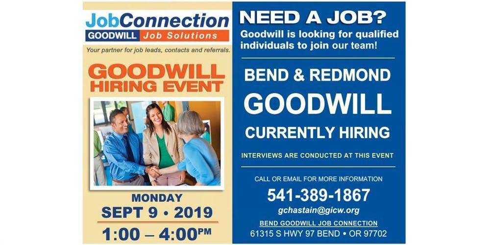 Hiring Event - Bend - 9/9/19 Tickets, Mon, Sep 9, 2019 at 1