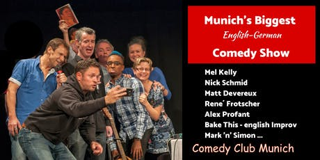 Munich's biggest English-German Comedy Show - 9. November 2019 Tickets