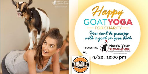 Happy Goat Yoga-For Charity at Armadillo Ale Works