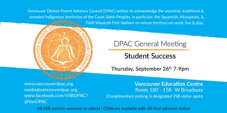 DPAC General Meeting: Student Success tickets