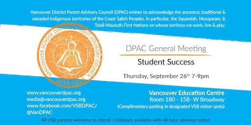 DPAC General Meeting: Student Success